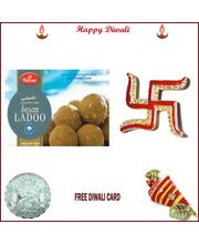 Haldiram Besan Ladoo With Free Silver Coin, 400 gm