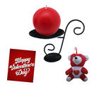 Round Shaped Candle With Attractive Stand and Cute Teddy