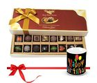 Chocholik Scrumptious Combination Of Dark And Milk Chocolates With Birthday Mug - Belgium Chocolates