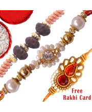 Charming Set Of Three Rakhis