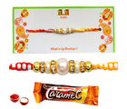 Pearl Rakhi for Chocolate Love - GAIR2, rakhi with imported chocolate tray