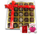 Chocholik Great Expressions Of Chocolates With Teddy And Love Card - Belgium Chocolates