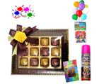 Holi Wishes With Assorted Chocolates