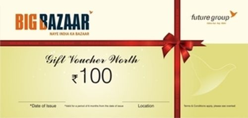 Big Bazaar Gift Voucher Price Buy Big Bazaar Gift Voucher Online In India