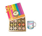Chocholik Delightful Birthday Celebration With Birthday Mug - Belgium Chocolates