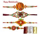 Devotional Rakhi Combo of four Rakhis