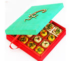 Ghasitarams Sugarfree Om Green Mix Mithai Box