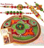 Fascinating Rakhi Puja Thali With Wishes