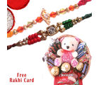 Rakhi With Chocolate Basket