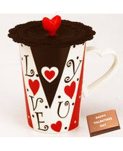 Love Cup with Valentine Chocolate Bar