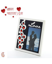 Love Frame Featuring Reflective Glass Trimmed With Faceted Crystals
