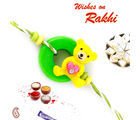 Cute Teddy Rakhi for Kids, only rakhi