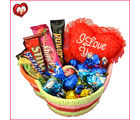 Chocolately Valentine Heart Basket