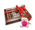 Chocholik Beautiful Chocolates Gift Box With Teddy and Rose - Belgium Chocolates