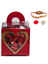 Choco Love in a Box Rakhi Gift for Brother, red