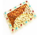 Color Beads Golden Dryfruit Tray