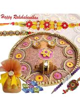 Sweet Sentiments Rakhi Thali