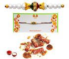 Anjeer Dryfruit Roll Rakhi Wishes - GAISWR28, rakhi with imported chocolate tray