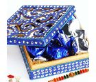 Rakhi With Blue Shining Box