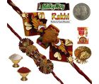 Celebrate Festival Gift Mauli Rakhi to Brother 193, rakhi set with 400g dryfruit and 2 rakhi