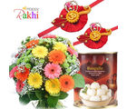 Tempting Treat With Flower Bunch
