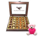 Chocholik Well Prepared Chocolate Gift Box With Teddy - Belgium Chocolates