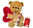 Valentine Adorable Teddy With Ring Heart