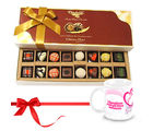 Chocholik Cheerful Treat Of Mix Assorted Chocolates With Love Mug - Belgium Chocolates