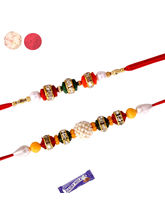 Set Of 02 Pearl And Fancy Rakhis