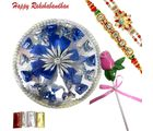 Rakhi Wishes With Chocolate Round Platter
