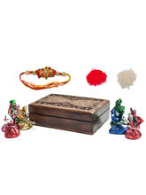 Wooden Box Rakhi Gift For Brother