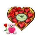 Chocholik Express Your Love With Teddy and Rose - Luxury Chocolates
