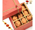 Rakhi With Butter Scotch Cookies