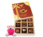 Chocholik Nicely Decorated Gift Box Of Delightful Chocolates With Teddy - Luxury Chocolates