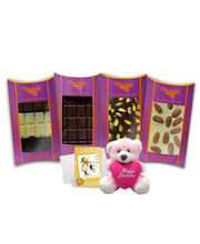 Chocholik Belgium Chocolate Gifts - Classic Combo Of Nutty Chocolate Bars