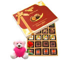 Chocholik Exotic Truffle Collection With Teddy and Rose - Belgium Chocolates