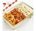 Golden Dryfruit Tray
