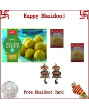 Haldiram Motichoor Ladoo 200 Grams and 2 Namkeen