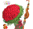 Tender Roses With Rakhi