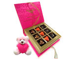 Chocholik Yummy Choco With Love Chocolates And Teddy Combo - Belgium Chocolates