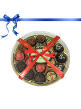 18pc Delicious Colorful Truffles Collection - Chocholik Belgium Chocol...