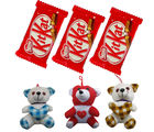 Soft Mix Teddy With Crispy Kit Kat chocolates
