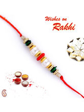 Coloured Beads Mauli Rakhi, only one rakhi