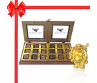 Belgium 18 Pc Delightful Chocolate Box With Buddha