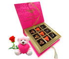 Chocholik True Love Combination Of Chocolates With Teddy and Rose - Belgium Chocolates