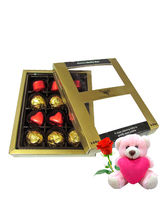 Chocholik Mellow Chocolates With Teddy And Rose - ...