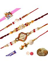 Set Of 05 Rakhis With Dryfruits