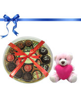 18pc Delicious Colorful Truffles Collection With L...