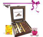 Chocholik Melting Moment Great Surprise With Card And Teddy - Belgium Chocolates