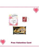 Valentine'S Day Themed Coffee Mugs With 3 Oz Hershey' Kisses